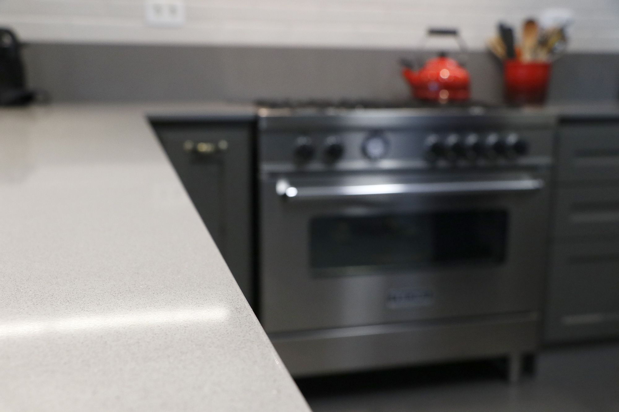 cozinha silestone cinza material