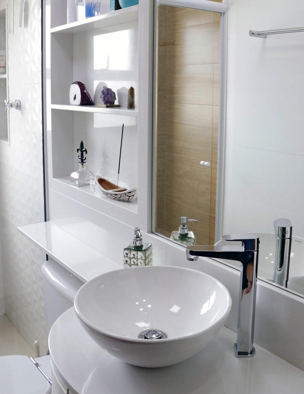 bancada banheiro branco