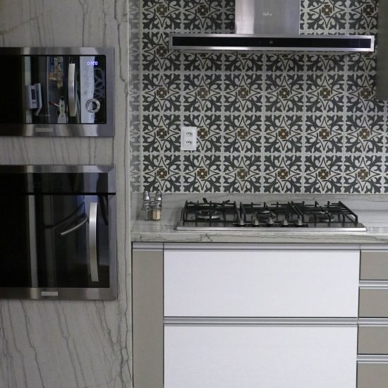 cozinha quartzito white macaubas