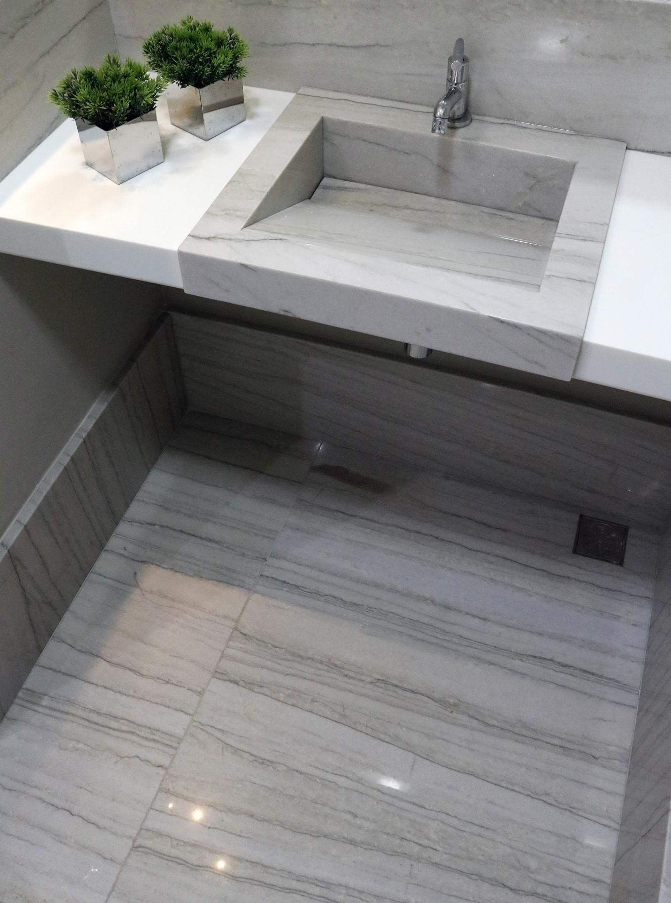 piso quartzito white macaubas